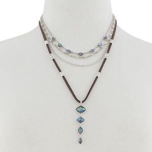 NEW Lucky Brand Silver-Tone Stone, Bead necklace